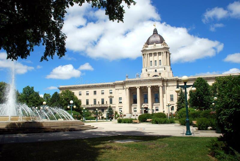 Manitoba Prawodawczy budynek obraz stock