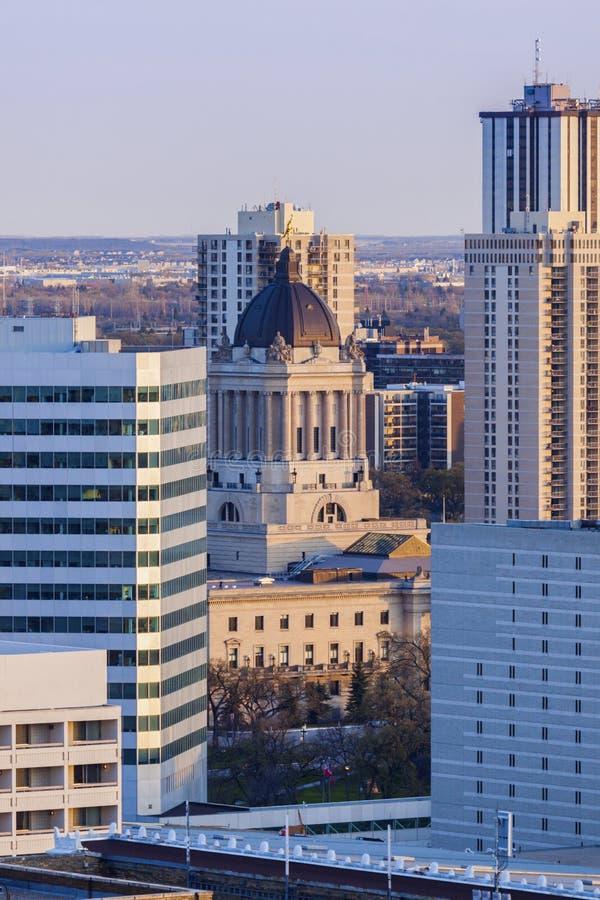 Manitoba Prawodawczy budynek w Winnipeg obraz royalty free