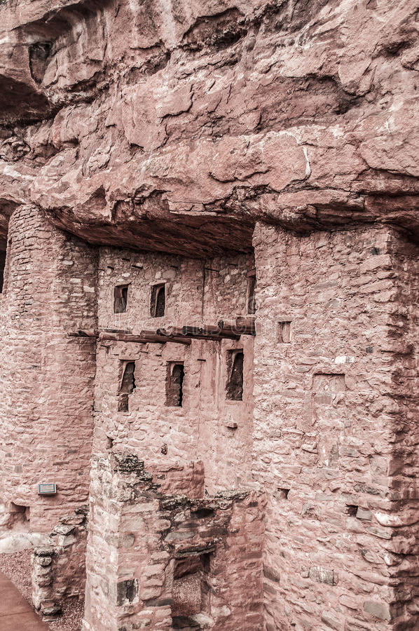 Manitou Colorado Cliff Dwellings royalty-vrije stock afbeelding