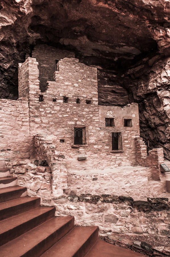 Manitou Colorado Cliff Dwellings stock afbeeldingen
