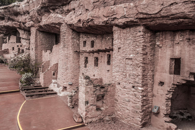 Manitou Colorado Cliff Dwellings. Located just outside of Colorado Springs / Manitou Springs. Ancient Native American Indian Cliff Dwellings in the Southwest royalty free stock images