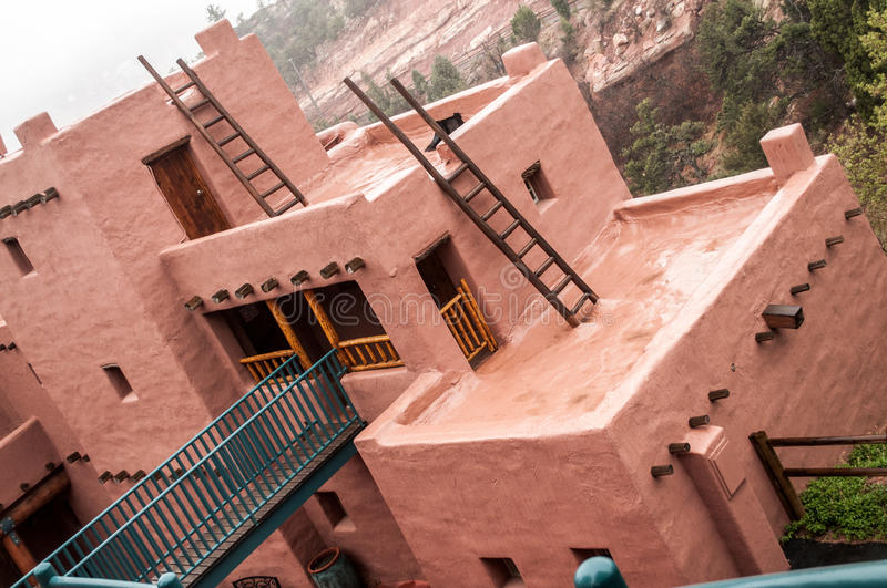 Manitou Colorado Cliff Dwellings Museum stock foto