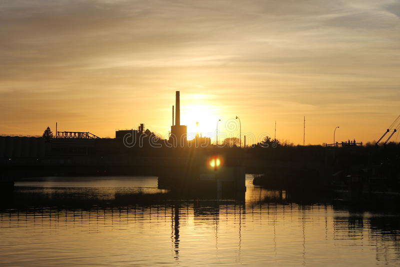 Manitowoc Sunset 1 stock image
