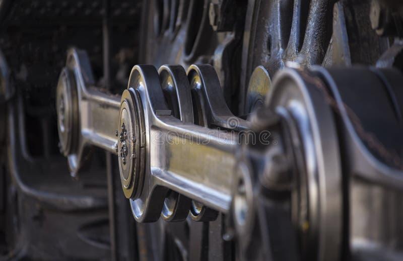 Manivela da roda da locomotiva de vapor foto de stock