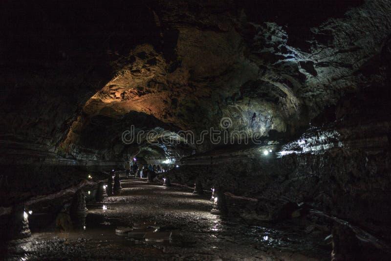 Manjanggul Lava Tube Cave lizenzfreie stockfotografie