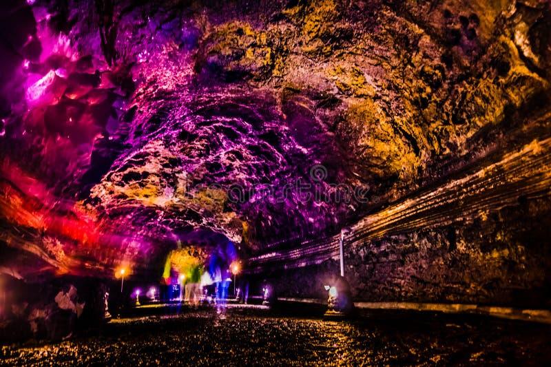 Manjanggul Lava Tube - Jeju-Eiland stock fotografie