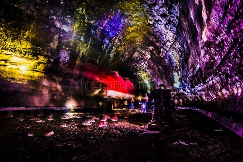 Manjanggul Lava Tube - Jeju-Insel stockfoto