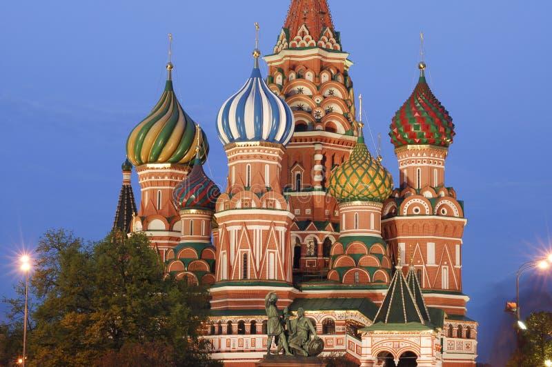 Manjericões catedral de Saint, Moscovo imagem de stock