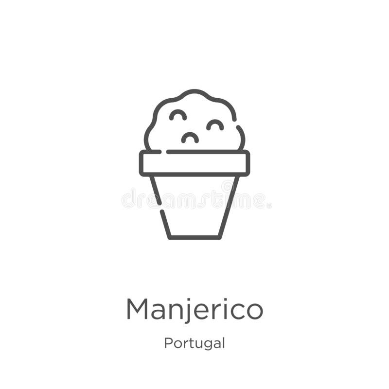 manjerico icon vector from portugal collection. Thin line manjerico outline icon vector illustration. Outline, thin line manjerico stock illustration