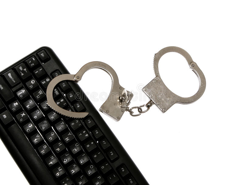 Mankiecika przestępstwa komputerowego prawa hacker obrazy royalty free