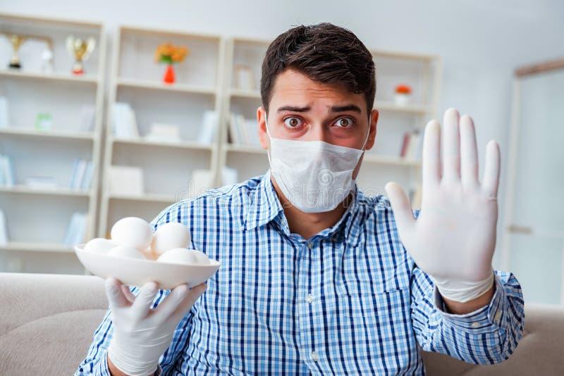 Manlidandet från allergin - medicinskt begrepp royaltyfri fotografi