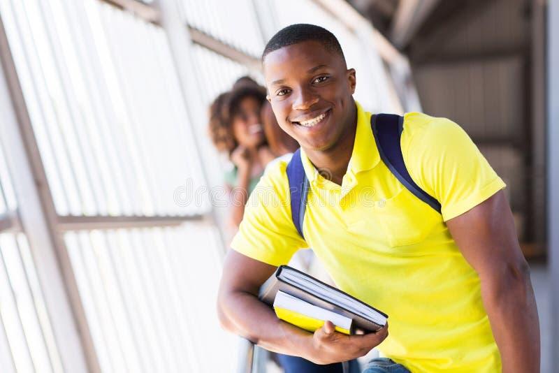 Manlig afro student royaltyfri foto