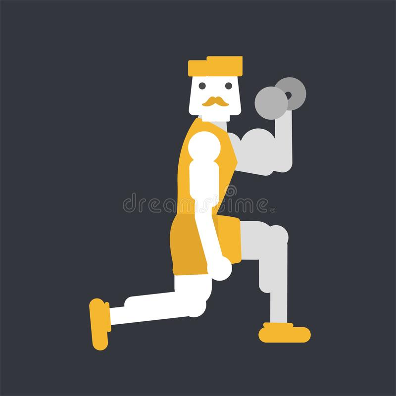 Manlig bicepsgenomkörare stock illustrationer