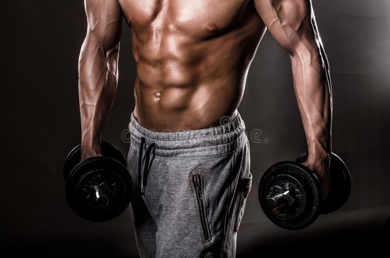Manlig bröstkorg för muskel arkivfoton