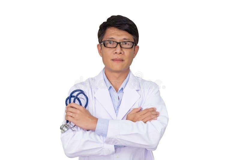 Manlig doktor för stående arkivfoto