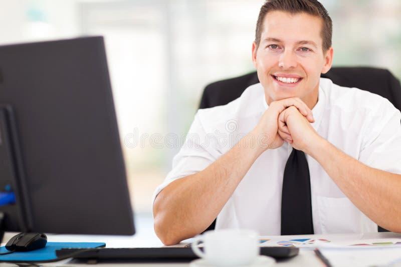 Manlig företags arbetare arkivfoton