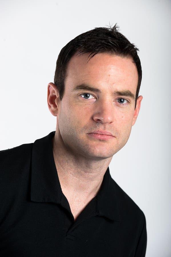Manlig Headshot arkivfoto
