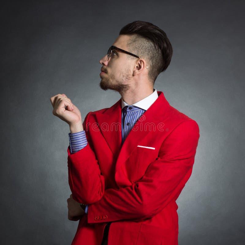 Manlig hipster arkivbilder