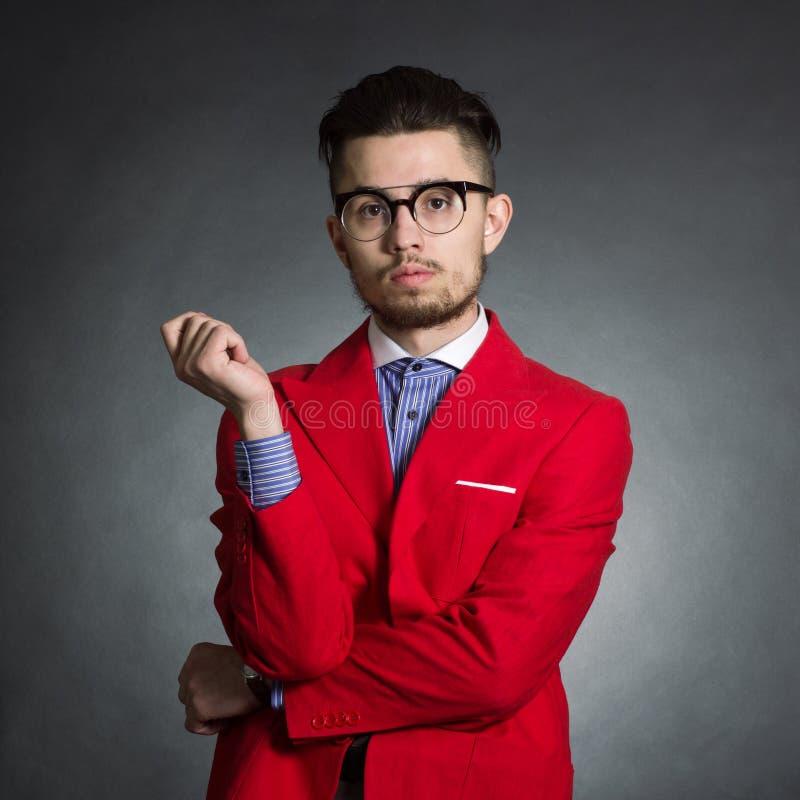 Manlig hipster royaltyfria foton