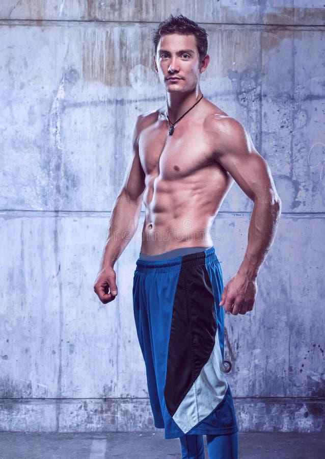 Manlig modell för kondition arkivfoton