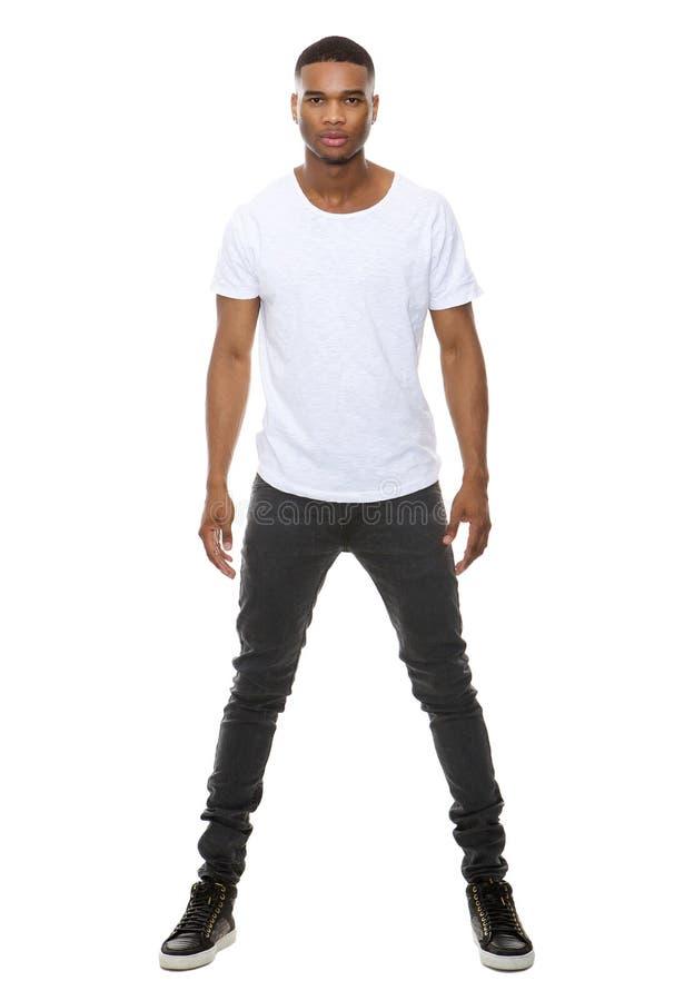 Manlig modemodell för stilig afrikansk amerikan royaltyfria foton