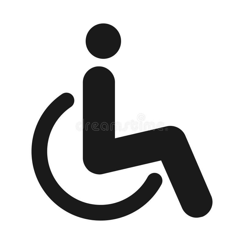 Manlig och kvinnlig toalettsymbolsvektor, fyllt plant tecken, isolerad fast pictogram Wc-symbol, logoillustration royaltyfri illustrationer