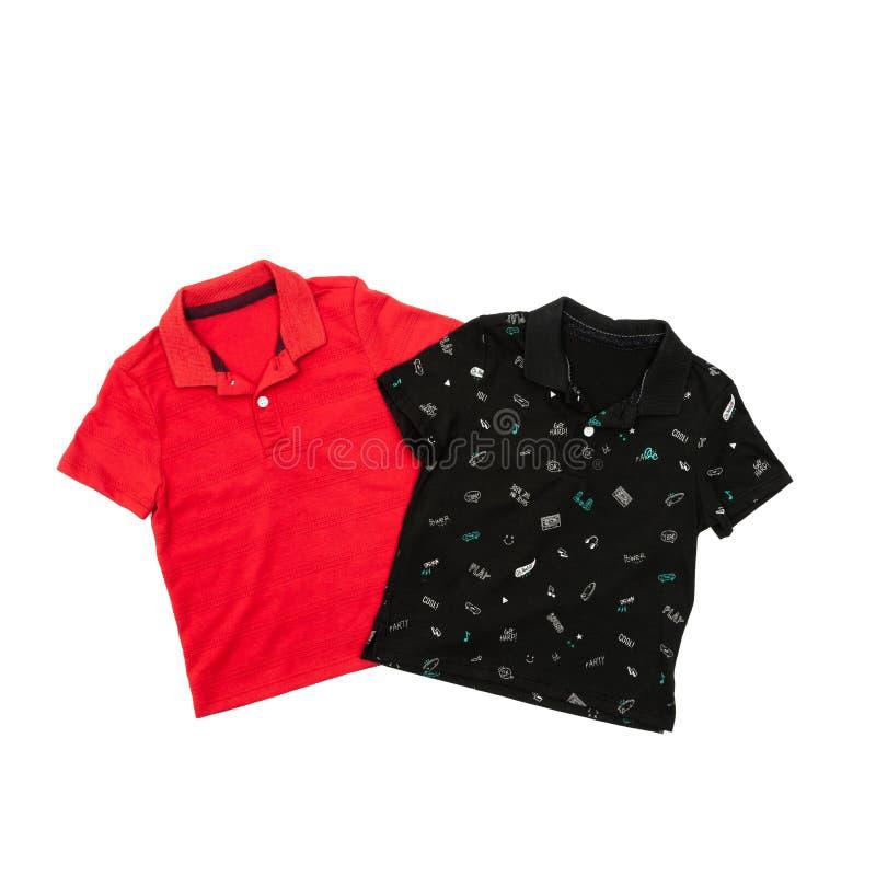 Manlig poloskjorta för mode för barn arkivbild