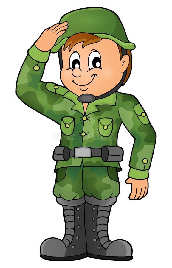 Manlig soldattemabild 1 vektor illustrationer