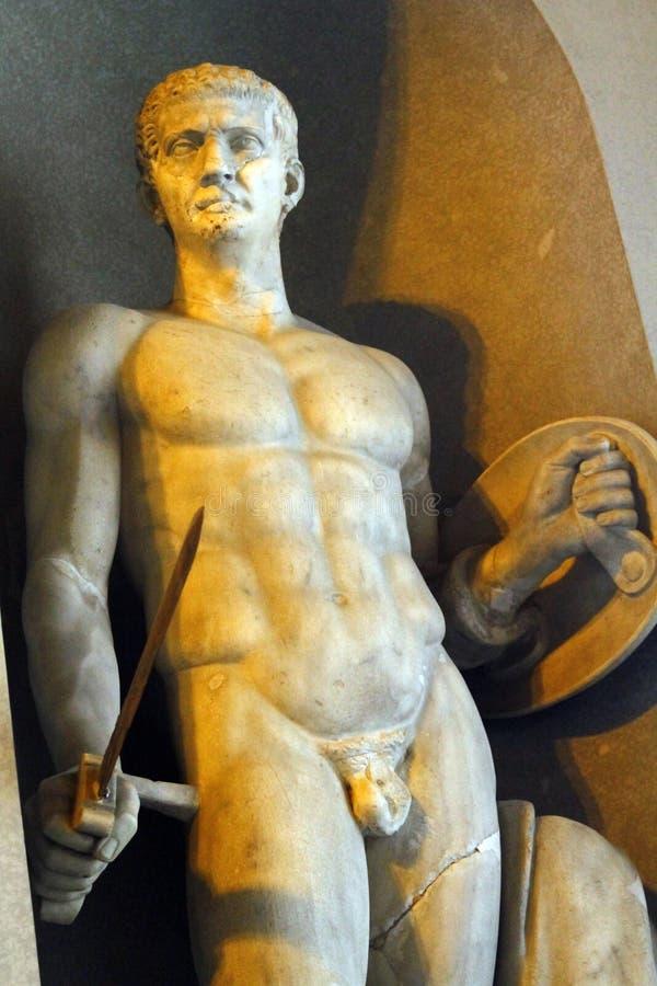manliga statydetaljer av Vaticanenmuseer fotografering för bildbyråer