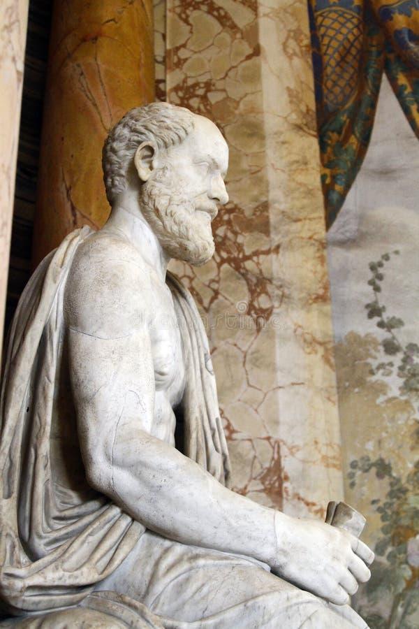 manliga statydetaljer av Vaticanenmuseer royaltyfri bild