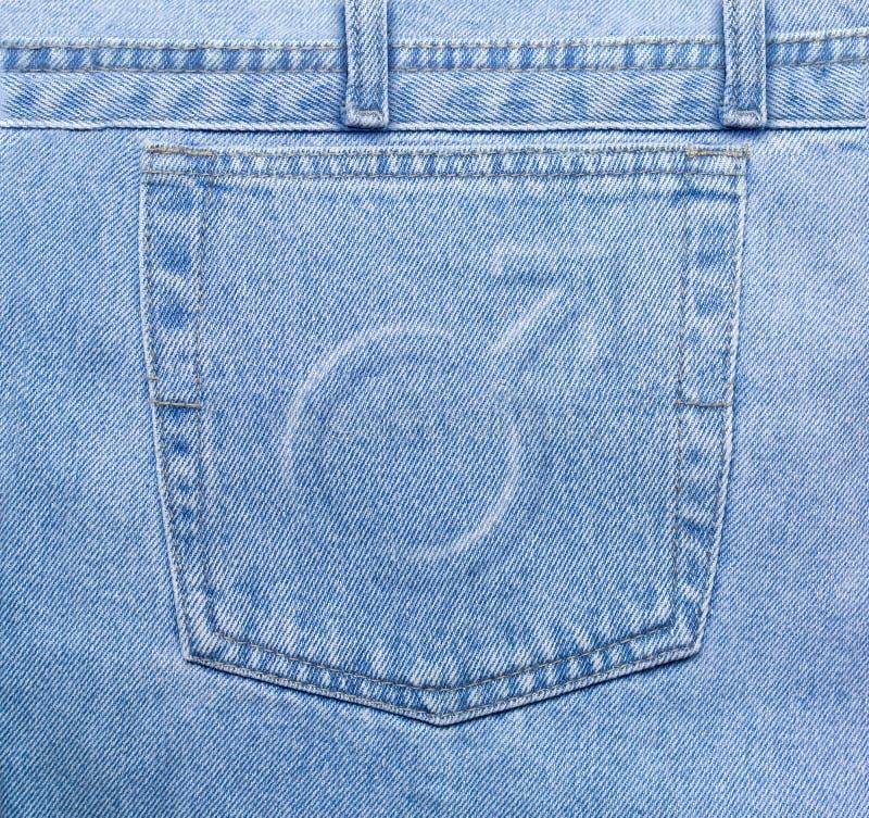 manligt fack för jeans royaltyfria bilder