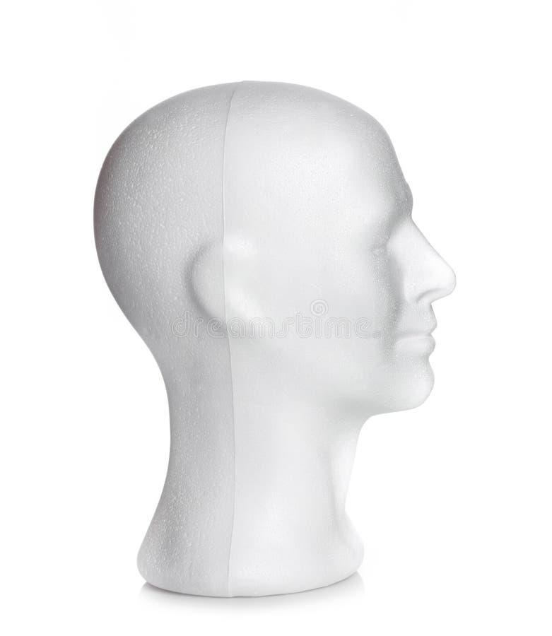 Manligt huvud av polystyren royaltyfria bilder