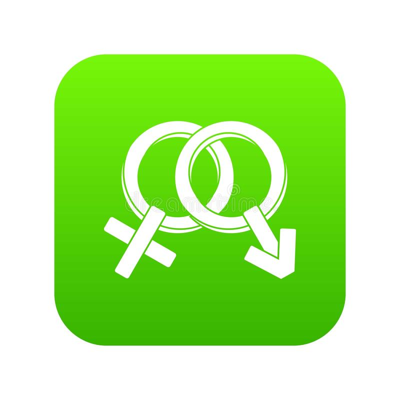 Manligt och kvinnlign undertecknar digital gräsplan för symbol stock illustrationer
