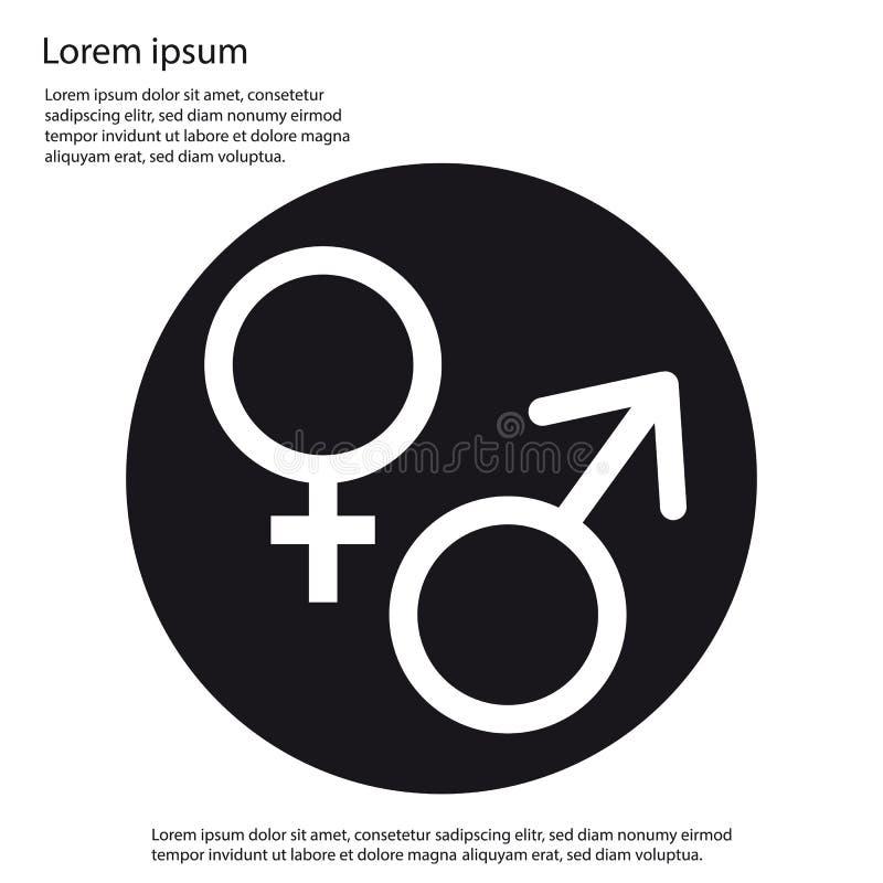 Manligt och kvinnligt könsbestämma symbolen - vektorillustration - som isoleras på vit stock illustrationer