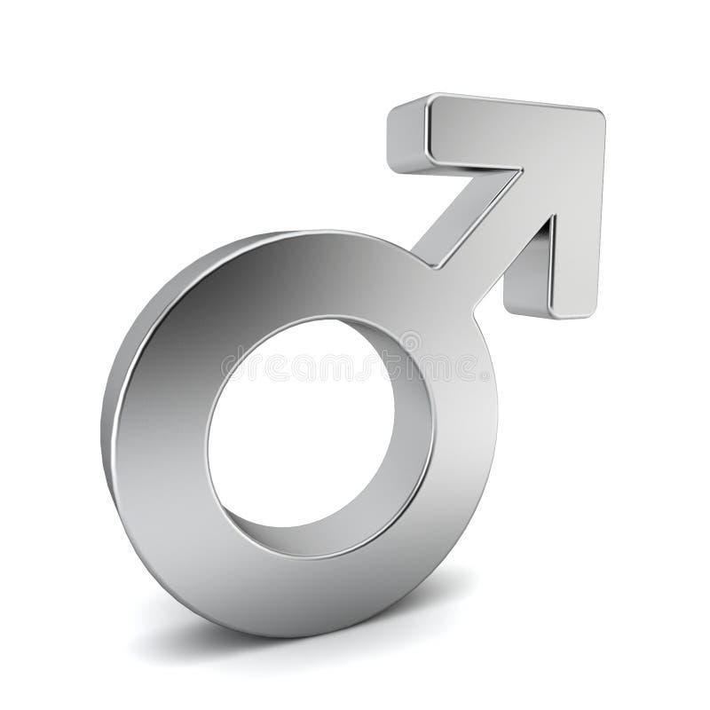 Manligt symbol vektor illustrationer