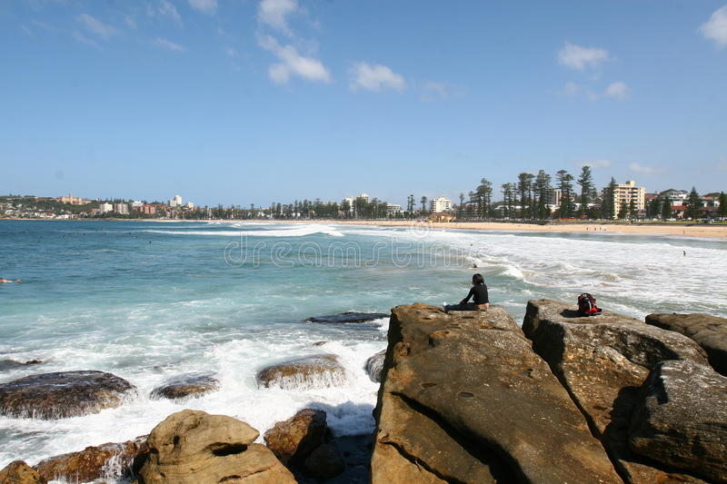Download Manly Beach editorial stock image. Image of ocean, australia - 28012434