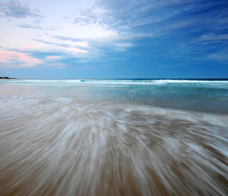 Manly Beach. Evening on Manly Beach Sydney Australia royalty free stock photography