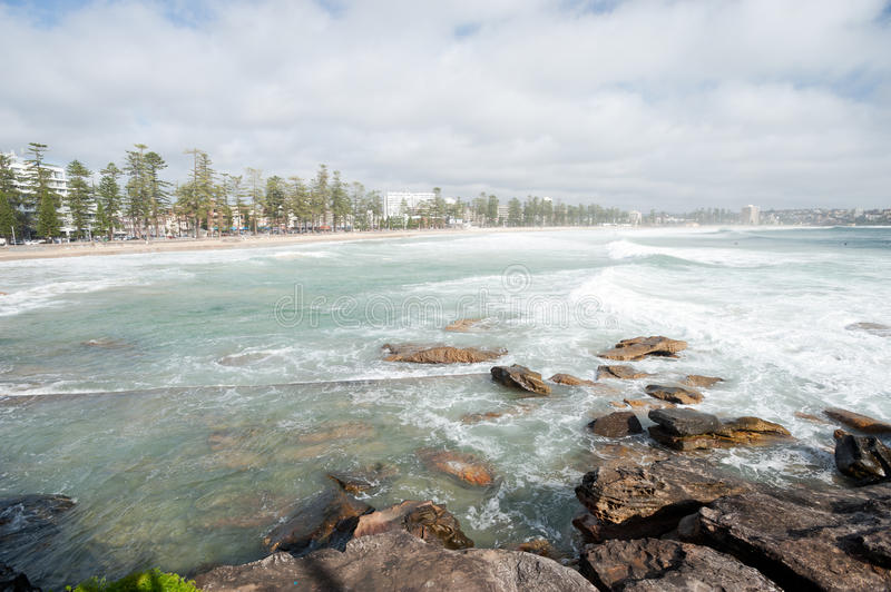 Manly Beach, Australia. This image shows the suburb of Manly, near Sydney, Australia stock photography