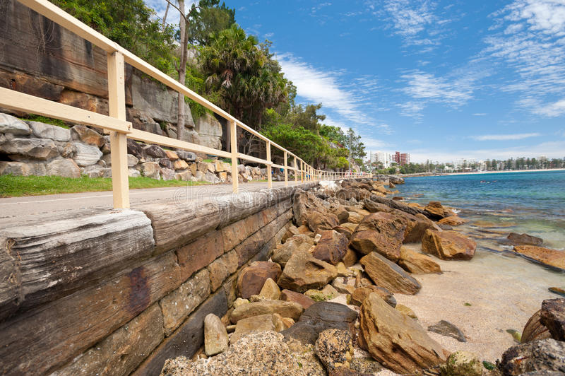 Manly Beach, Australia. This image shows the suburb of Manly, near Sydney, Australia royalty free stock photography