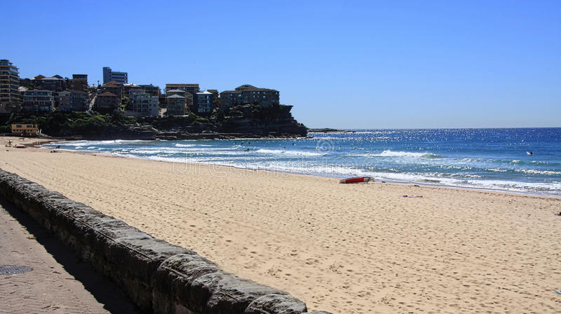 Manly Beach Australia. Manly beach in the morning,summertime in Australia stock photos