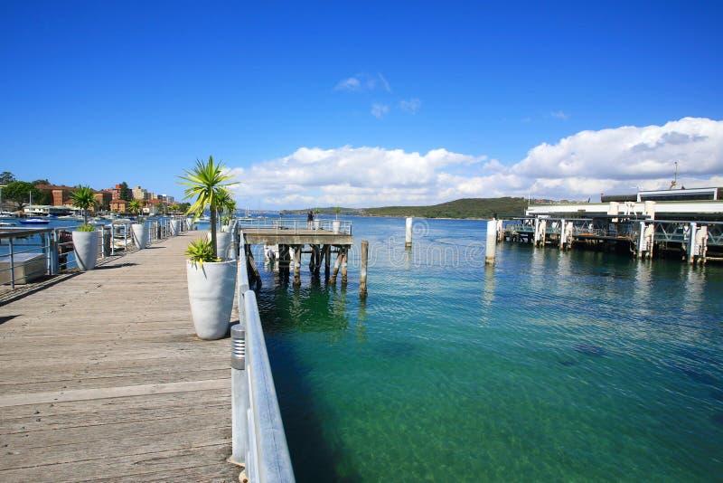 Manly Beach Australia. Manly Beach wharf in Sydney Australia royalty free stock photo