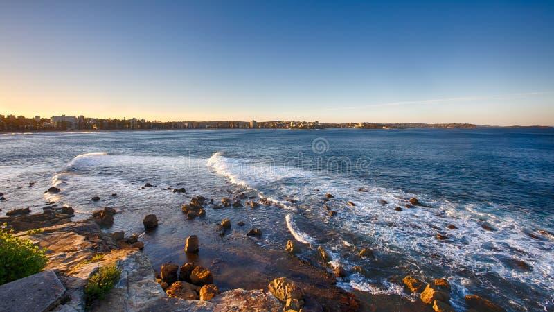 Manly Beach Head Lookout nära Sydney, NSW, Australien arkivfoton