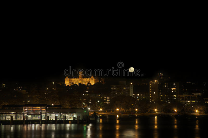 Download Manly Beach at night stock photo. Image of dark, quay - 20158996