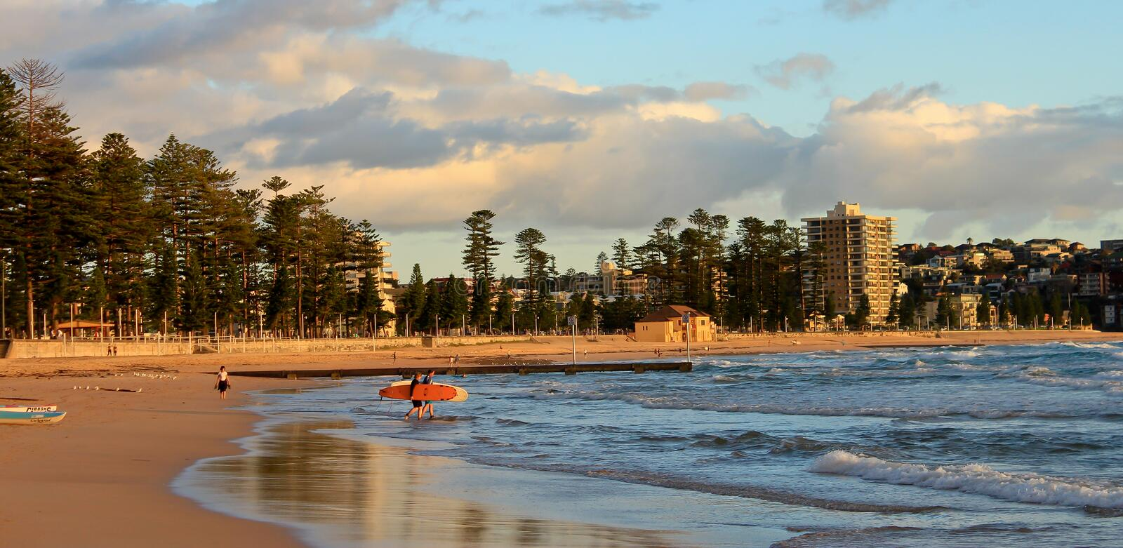 Manly Beach Sydney Australia. Early morning at Manly Beach, Sydney, Australia royalty free stock photography