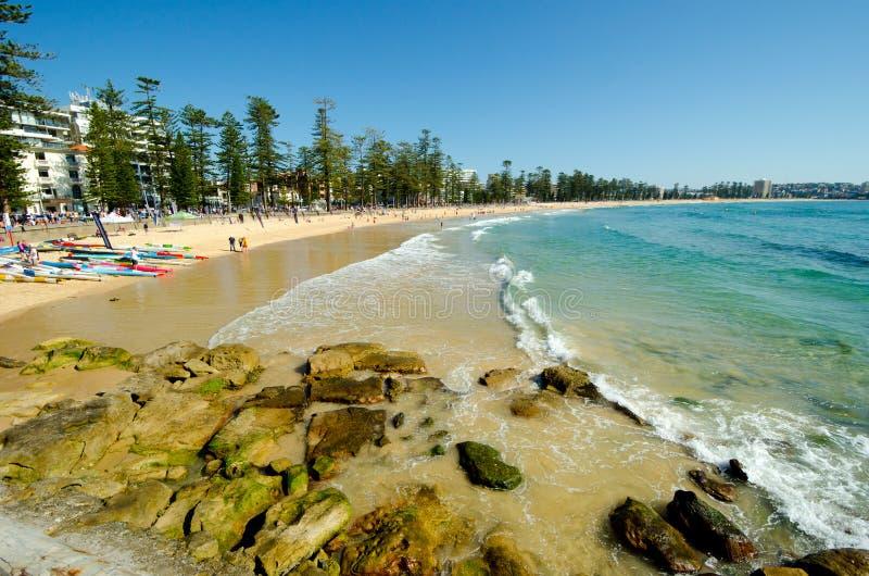 Manly Beach, Sydney, Australia. A sunny day at Manly Beach, Sydney, Australia stock photography