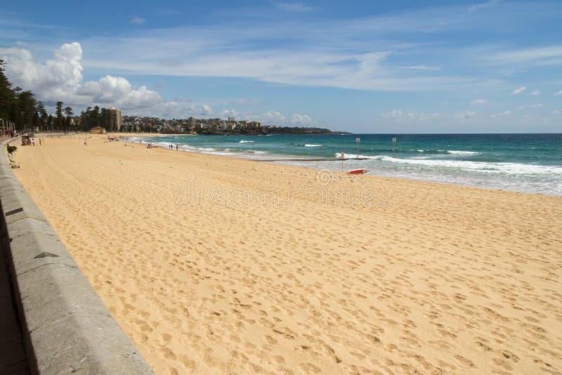 Manly beach. Sydney on a sunny Summers day stock photos