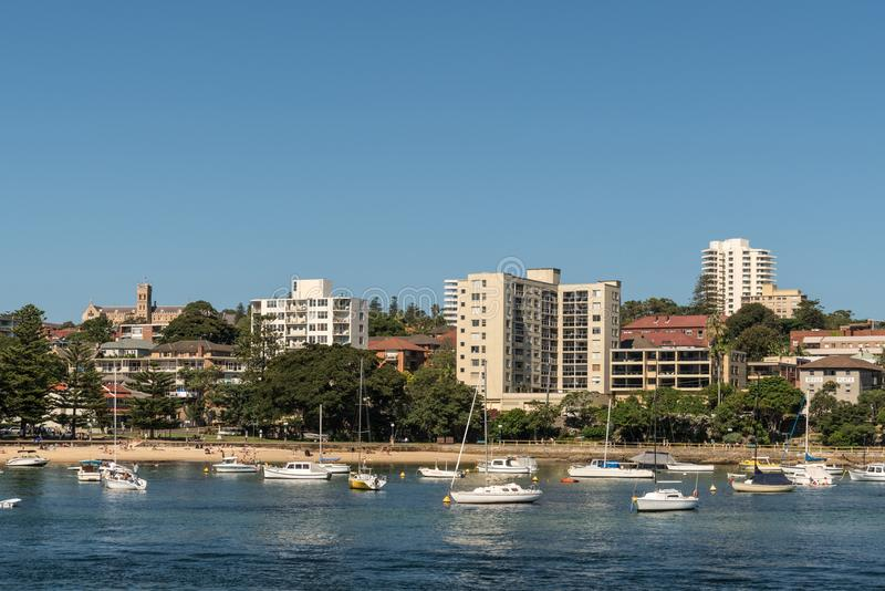 Manly Cabbage Tree Bay and beach, Sydney Australia. royalty free stock photography