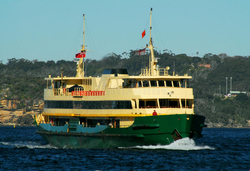 Manly Ferry. A Manly ferry nears its destination royalty free stock photos