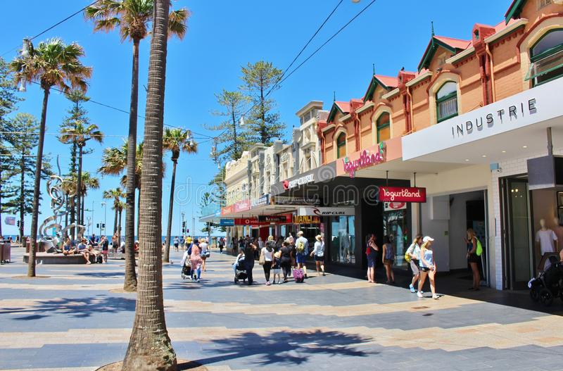 Manly, Sydney. Manly is a suburb of Sydney, Australia. Manly`s main street is called The Corso and where there are street musicians and the many outdoor cafes royalty free stock photos
