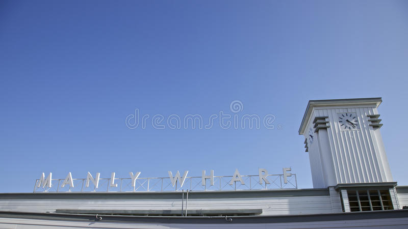 Download Manly Wharf stock image. Image of transport, clear, deco - 19524355